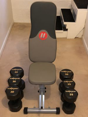 Dumbbells and Bench for Sale in Seattle, WA