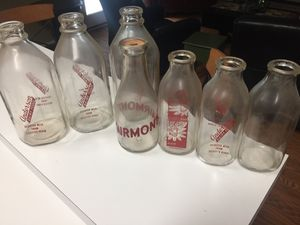 Antique vintage milk bottles decor for Sale in Flower Mound, TX