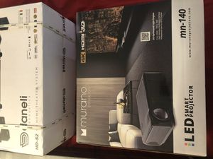 Super high tech smart projector,Daneli surround sound system, and projector screen for Sale in Wichita, KS