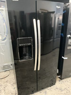 Whirlpool side by side in glossy black for Sale in West Covina, CA