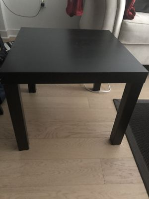 Black wooden coffee table. square shape for Sale in New York, NY