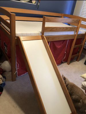 Twin size bed with slide for Sale in Sully Station, VA