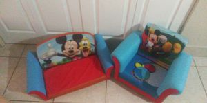Babies R Us & Toys R Us Mickey Mouse Clubhouse Chair and Love Seat the unfold to a bed for Sale in Lake Worth, FL