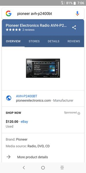 Pioneer Bluetooth indash for Sale in Fort Worth, TX