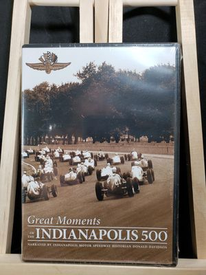 DVD great moments of the Indianapolis 500 for Sale in Zanesville, OH