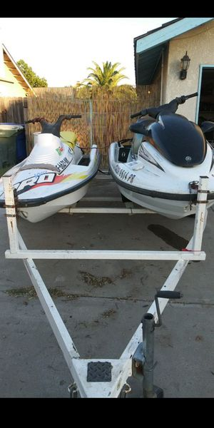 3 jet skis and trailer for Sale in Lemoore, CA