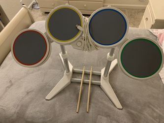 Wii Rockband Harmonix Drumset (Drums, Stand and Sticks) for Sale in Sacramento, CA