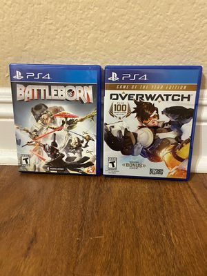 OverWatch & BattleBorn PS4 for Sale in Temecula, CA