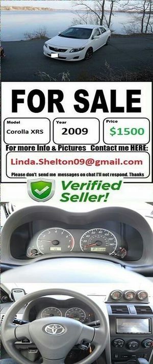 My contact is in pics my chat app is not working:2009 Toyota Corolla XRS*Cleantitle/fullyloaded for Sale in Seattle, WA