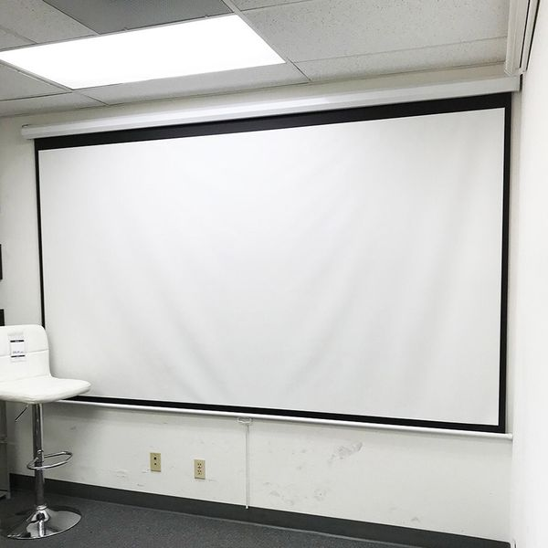"Brand New $75 Manual Pull Down 120"" Projector Screen 16:9 Ratio Projection Home Theater Movie"