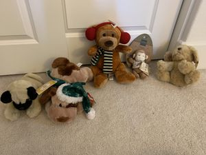 Dogs monkeys-stuffed animals-brand new with tags for Sale in Fremont, CA