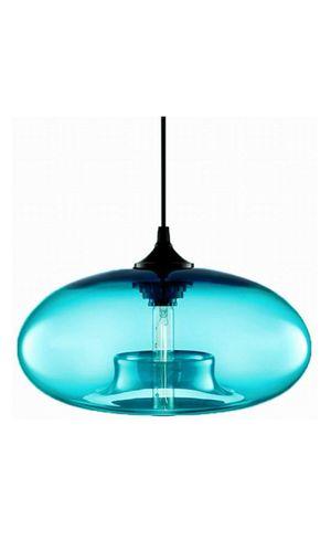 NEWRAYS Modern Single Light Blue Glass Pendant Lighting Ceiling Light for Kitchen Island Lighting Fixtures for Sale in San Bernardino, CA