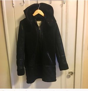 Suede black parka. women. Winter warm coat. for Sale in Cleveland, OH