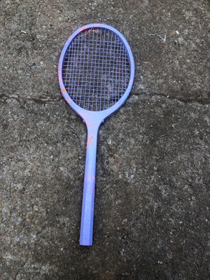 A spray painted powerplus sports craft tennis racket for Sale in GA, US