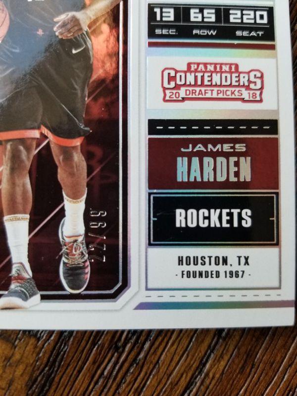 James Harden Draft Ticket Serial # /99!!