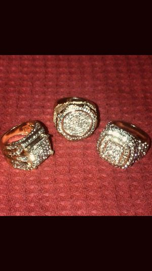Men's 14kt Gold Rings ( AAAA quality Diamondiqe stones for Sale in Evansville, IN