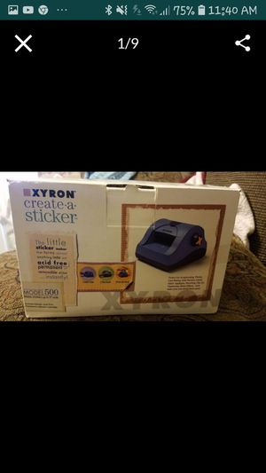 Xyron 500 Sticker machine, sold by CASSBOOKS for Sale in Diamond Bar, CA
