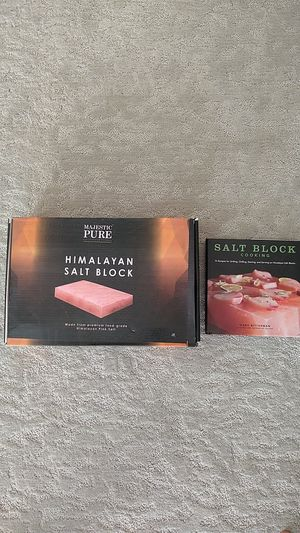 Himalayan Salt Block & Cook book for Sale in Valley Center, CA