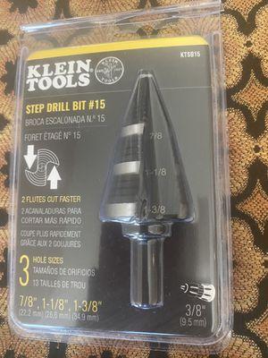 Klein tools step drill bit #15 for Sale in Phoenix, AZ