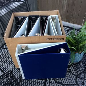 Big 3-Ring Binder Set of Nine.. 2-4 inches wide.. take all for $10 for Sale in Rancho Cucamonga, CA