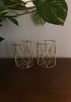 Two brass candle holders for Sale in Phoenix, AZ