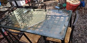 Glass table top in great shape chairs very clean for Sale in Severn, MD