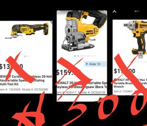 3 NEW DEWALT POWER TOOLS ; 1.JIGSAW 2.WRENCH 3.MULTI-TOOL FOR $290 •TOOL ONLY• for Sale in San Diego, CA