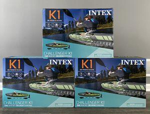 ✅ Intex K1 Challenger Kayak w/Oar + Pump NEW for Sale in Naperville, IL