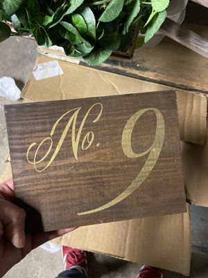 Wedding table numbers for Sale in Lowell, MA