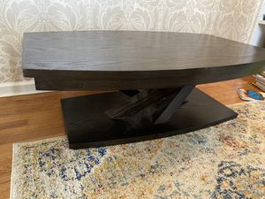 Solid wood coffee table and standing shelves for Sale in Holly Springs, NC