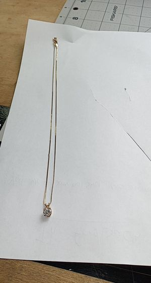 14kt gold plated necklace with diamond pendant for Sale in Taylor, MI