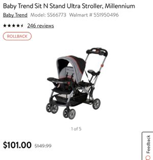 Preowned Sit N' Stand Double Stroller for Sale in Los Angeles, CA