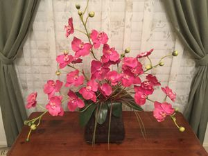 Orchid flower arrangement with vase for Sale in Boca Raton, FL