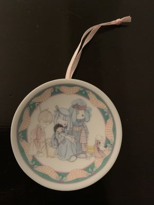 Precious Moments Mini Christmas Plate Ornament- Come Let Us Adore Him for Sale in Fresno, CA