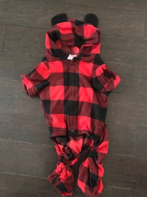 NNTs Buffalo Check Flannel Dog PJs Size M for Sale in Davenport, FL