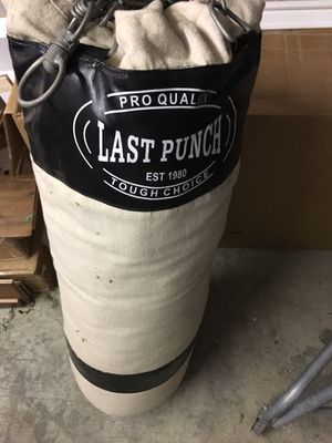Canvas Boxing, Punching Bag for Sale in Renton, WA