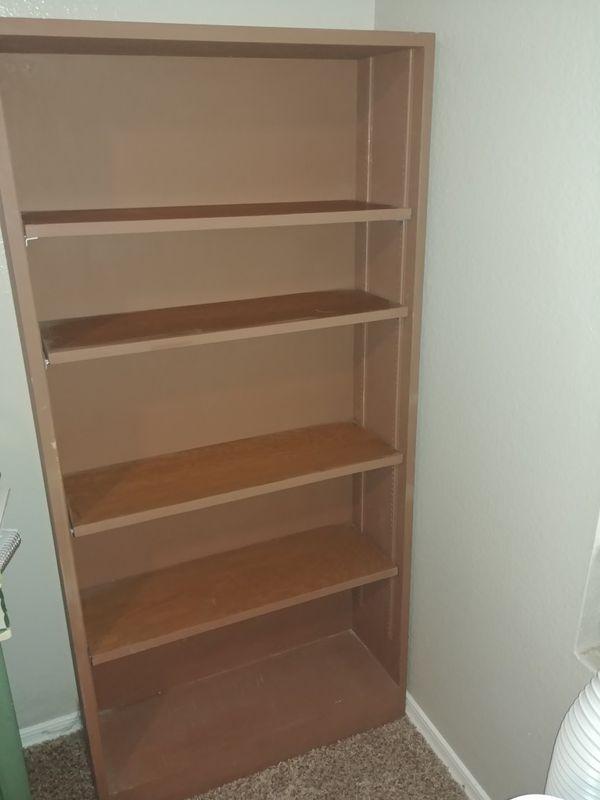 Solid wood brown book shelve