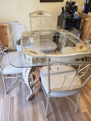 Antique iron table and chairs for Sale in Herndon, VA