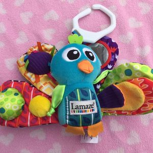 Lamaze Baby Toddler stroller Toy Peacock Rattle Crinkle for Sale in Valley Stream, NY