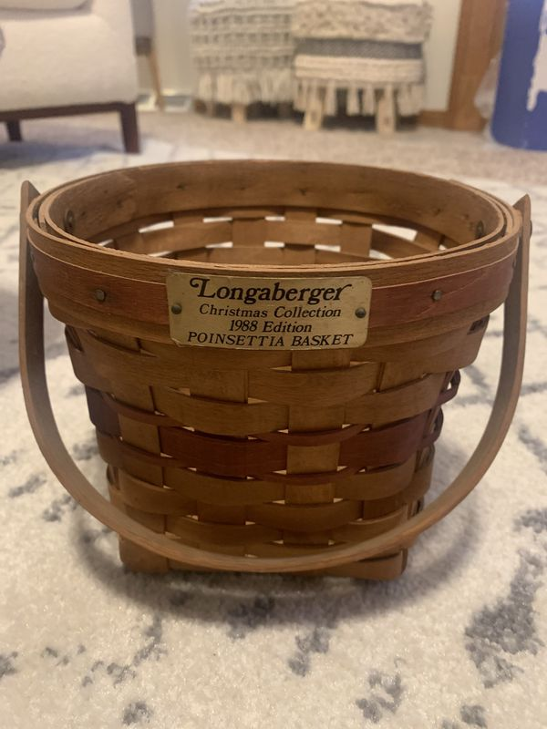 Longaberger basket Christmas Collection 1988 edition Poinsettia basket