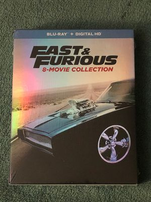 FAST & FURIOUS 8-MOVIE COLLECTION BLU-RAY + DIGITAL SEALED for Sale in La Grange, IL