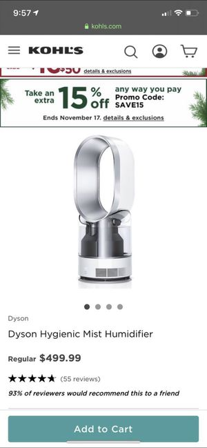 Dyson Air Multiplier™ AM10 Hygienic Mist Humidifier in White for Sale in Lexington, KY