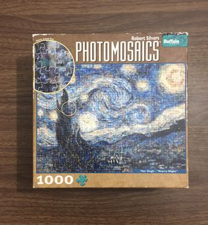 "Buffalo Games Photomosaics Van Gogh ""Starry Night"" Puzzle, 1,000 Pieces for Sale in PECK SLIP, NY"