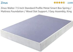 Zinus Armita 7 Inch Smart Box Spring King for Sale in Canal Winchester, OH