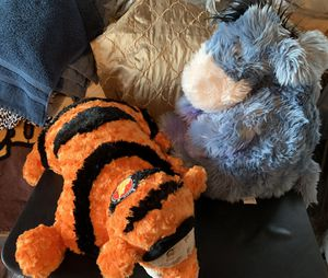 Tiger plush pillow and Eeyore plush for Sale in Glendale, AZ