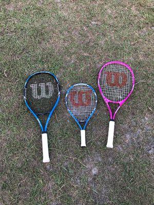 3 set Wilson tennis racket $30 for Sale in Riverview, FL