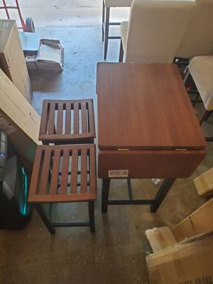 3pc wood top kitchen island / eatery for Sale in Fort Worth, TX