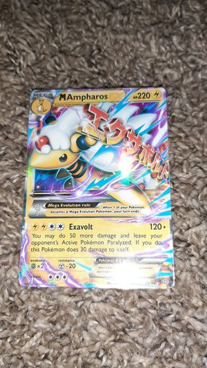 Pokemon card Mega Ampharos 28/98 good condition for Sale in Washougal, WA