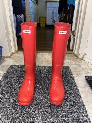 Knee High Orange Glossy Hunter Boots for Sale in Scranton, PA