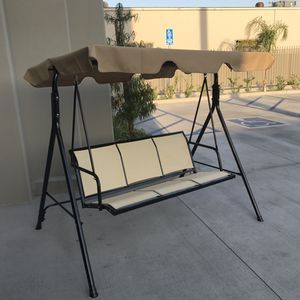 New in box $90 each 528 lbs capacity porch swing bench chair with canopy sun shade sun blocker for Sale in Downey, CA